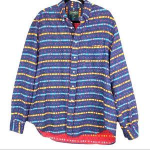Gitman Bros Vintage Flannel 100% Cotton Size Large